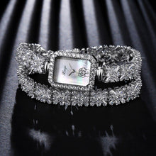 Xinge Women Brand Watch Luxury Zircon Flowers Bracelet Quartz Watch For Women Ladies Dress Watch Clock Fashion Business Watch