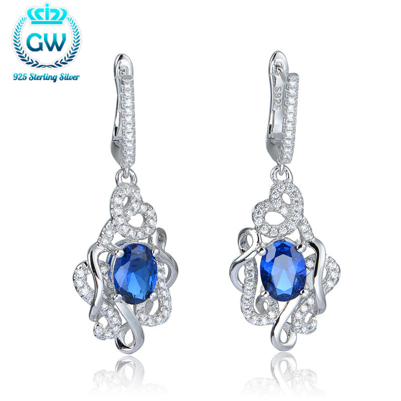 925 Silver Earrings With Stones Signifying Forever Love Earrings For Women Brand Gw Jewellery Fe382-90
