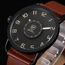 Luxury Gift Box Caribbean Rough Shark Sport Watch Turntable Rotate Second Hand Leather Men Wrist Watch Relojes Hombre /SH522-526