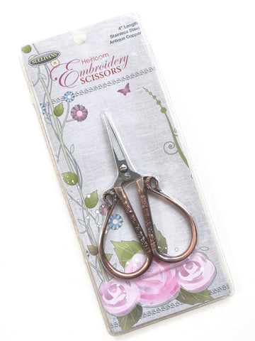 Heirloom Embroidery Scissors in Copper