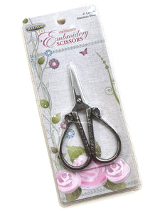 Heirloom Embroidery Scissors in Silver