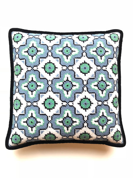 Pillow - Needlepoint Kit with Stitch Painted Canvas: Medallion