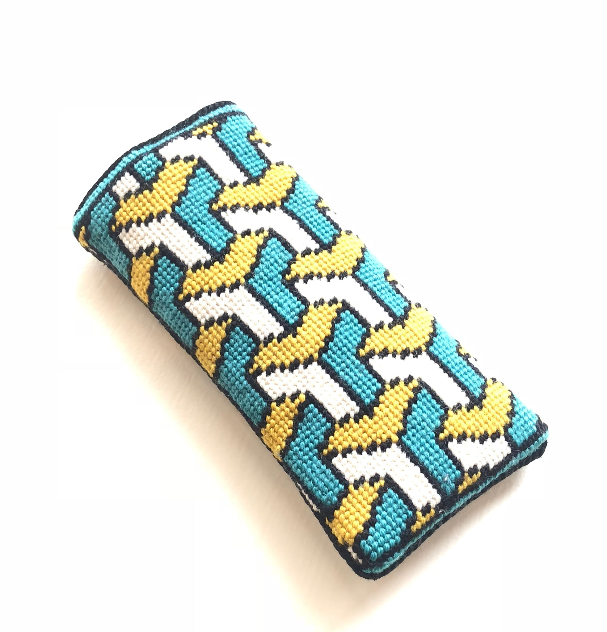 Eyeglass Case - Needlepoint Kit with Stitch Painted Canvas: Cascade Design