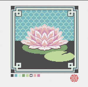 Kensington Lily Needlepoint Kit with Printed Canvas