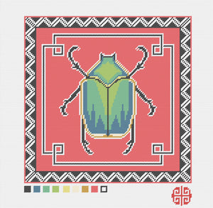 June Bug Needlepoint Kit with Printed Canvas