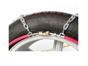 Rear connector snow chains