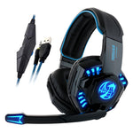 Noswer I8 Led Stereo Headset Computer Headphones earphones with microphone for Gaming PS4 PC Laptop Gamer Mobile Phones Gamer