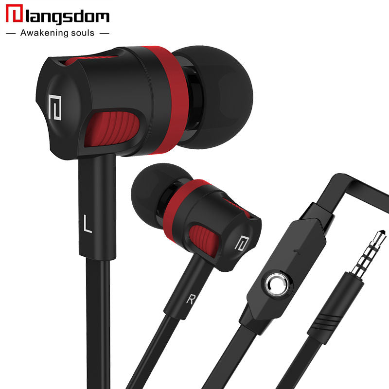New Arrival Langsdom JK5 3.5mm In-Ear Headset with Mic Earbuds Earphones For Mobile Phone Fone De Ouvido Auriculares Audifonos