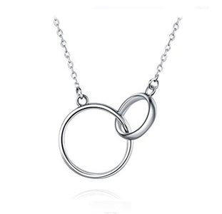 Double Circle Interlock Necklace