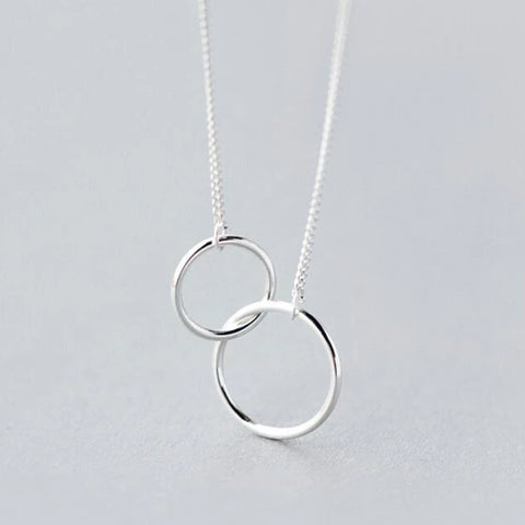 Image of Double Circle Interlock Necklace
