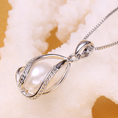 Image of Caged Pearl Necklace