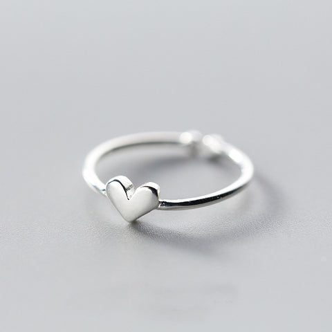Heart Charm Open Ring