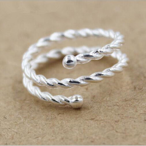 Triple Twist Rope Ring