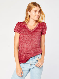 abb089162d62a7 Vintage Wash V Neck in Red – Threads 4 Thought