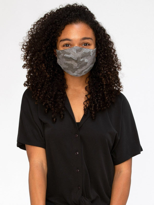 Camo Triblend Face Covering Accessories - Mask Threads 4 Thought