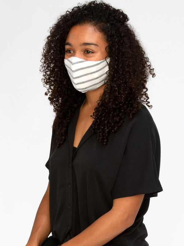 Jersey Stripe Face Covering Accessories - Mask Threads 4 Thought