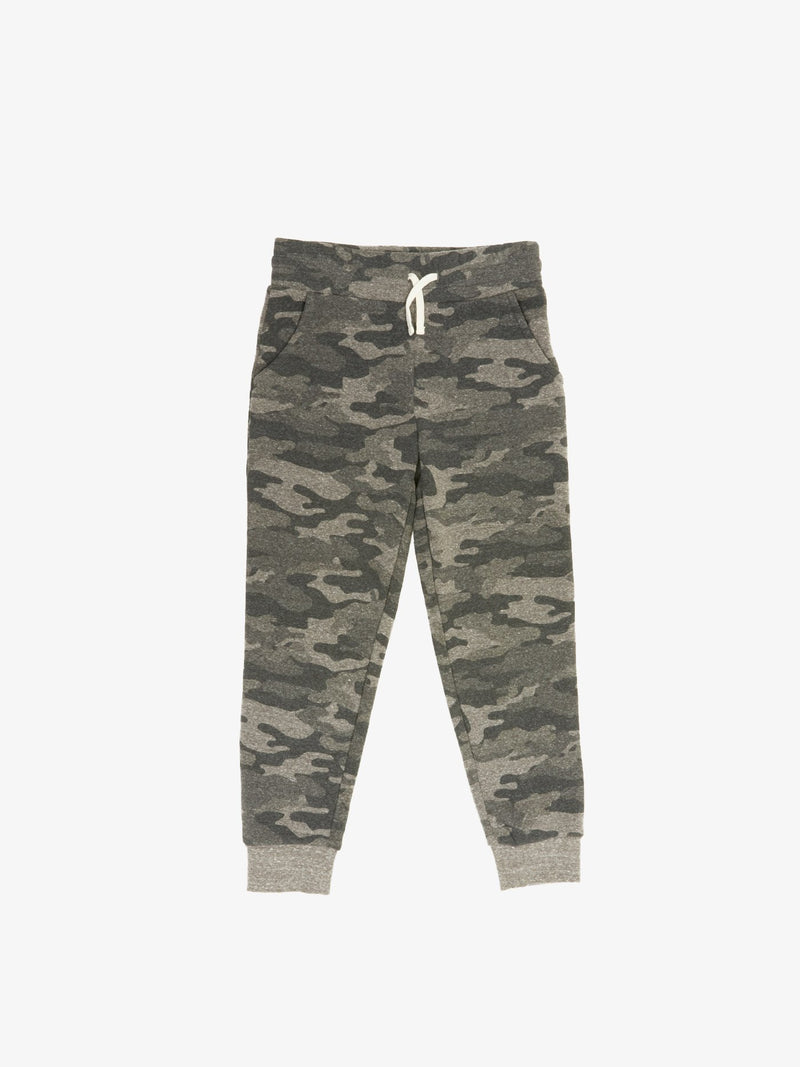 Boy's Camo Print Triblend Jogger Boys Bottoms Sweatpants Threads 4 Thought