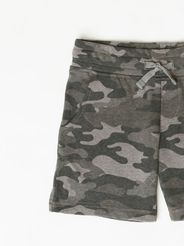 Little Boy's CVC Fleece Camo Print Short Boys Bottoms Shorts Threads 4 Thought