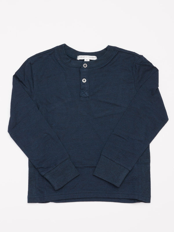 Triblend Long Sleeve Henley Boys Tops Threads 4 Thought