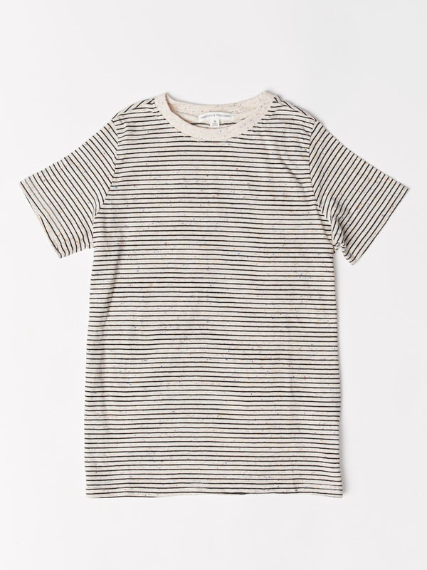 Slub Stripe Crew Tee Threads 4 Thought