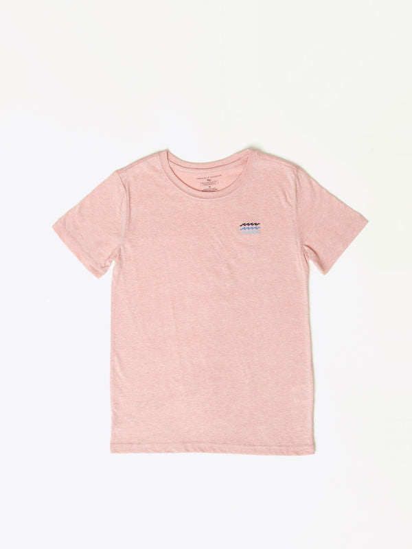 Wave Embroidered Triblend Tee Boys Tops Threads 4 Thought