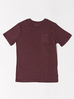 Boys Short Sleeve Triblend Pocket Tee Threads 4 Thought