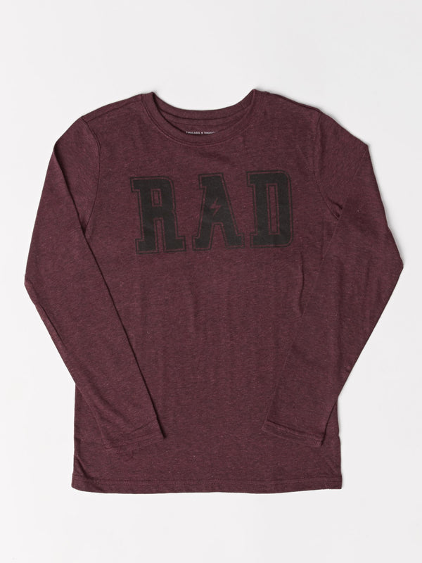 Boy's Long Sleeve Rad Graphic Tee Threads 4 Thought