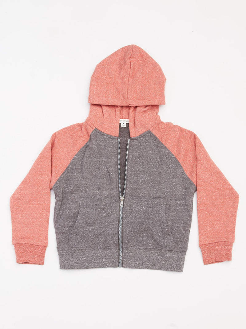 Pacific Colorblock Zip Hoodie Boys Outerwear Jacket Threads 4 Thought