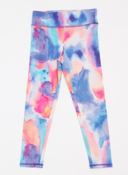 Watercolor Dreams Legging Girls Bottoms Leggings Threads 4 Thought