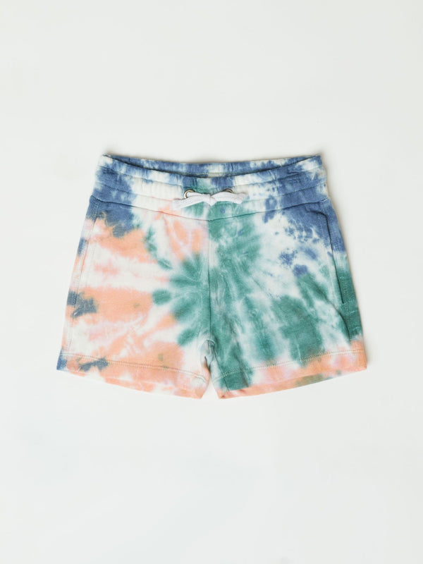 Little Girl's Spiral Tie Dye Guille Short Girls Bottoms Shorts Threads 4 Thought