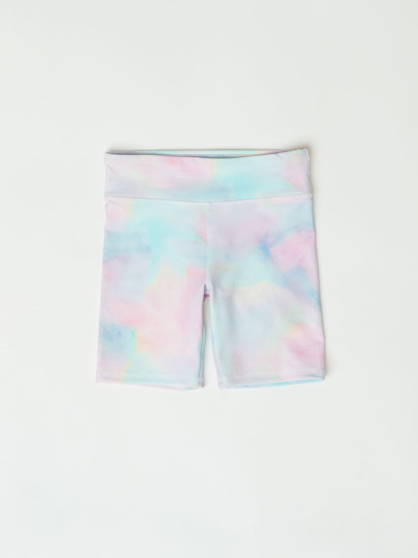 Mariska Rainbow Tie Dye Print Bike Short Girls Bottoms Shorts Threads 4 Thought