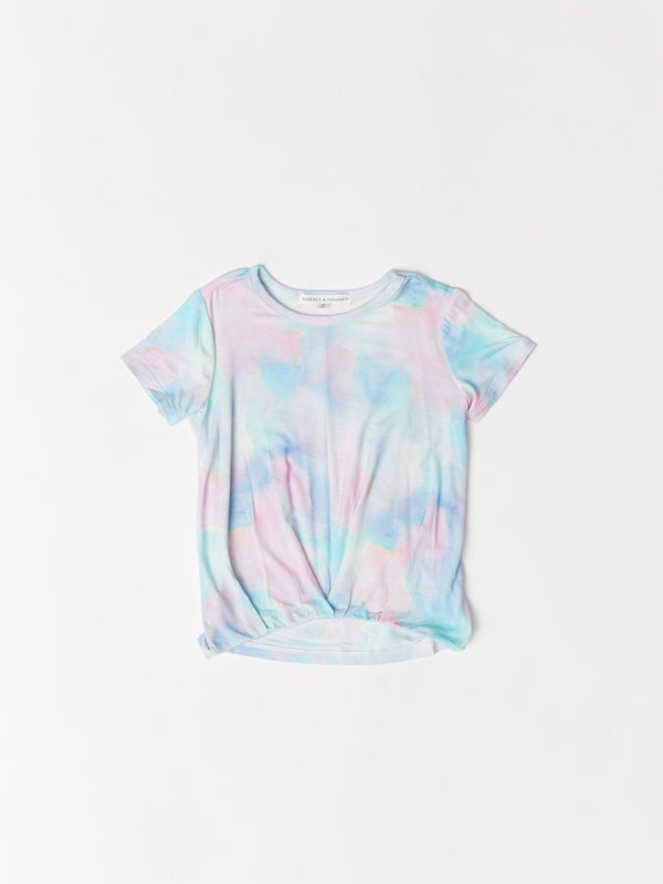 Maud Twist Hem Rainbow Cloud Tee Girls Tops Threads 4 Thought