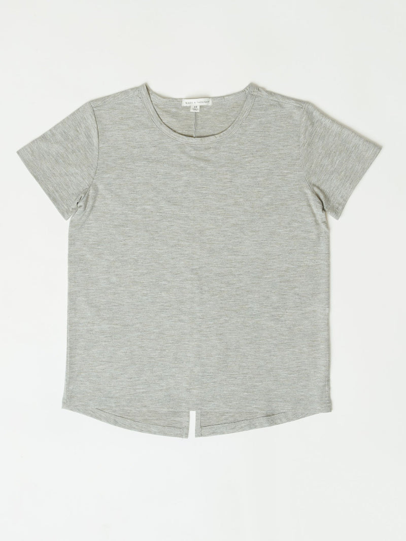 Kerry Split Back Tee Girls Tops Tshirt Threads 4 Thought