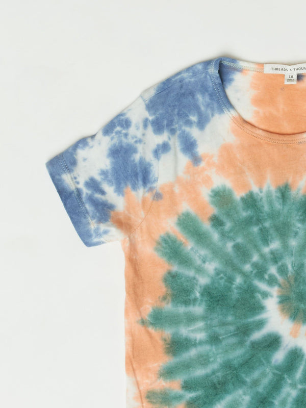 Spiral Tie Dye Tee Girls Tops Tshirt Threads 4 Thought