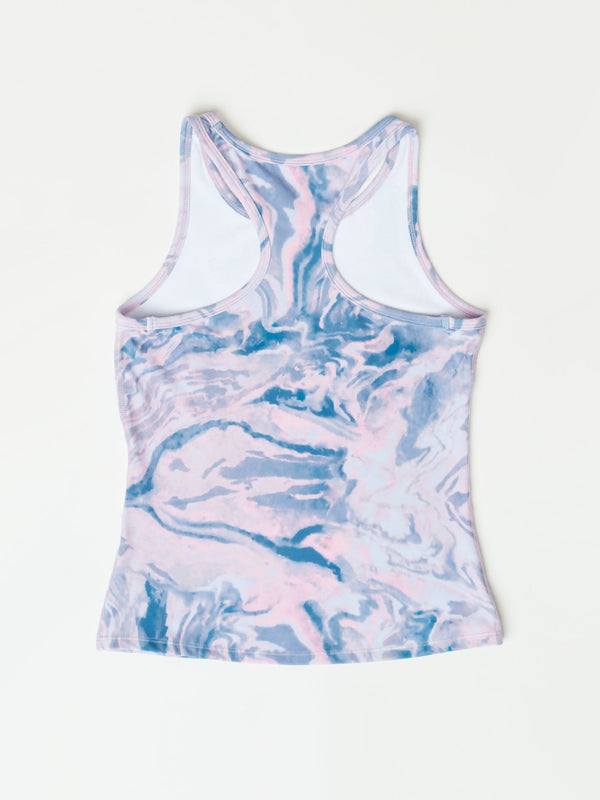 Clarice Marble Swirl Active Tank Girls Tops Threads 4 Thought