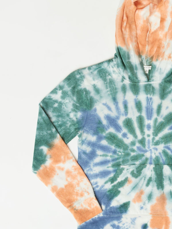 Roe Spiral Tie Dye Hoodie Girls Outerwear Sweatshirts Threads 4 Thought
