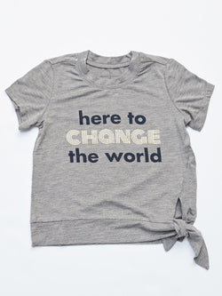 Change The World Graphic Tee Girls Tops Threads 4 Thought