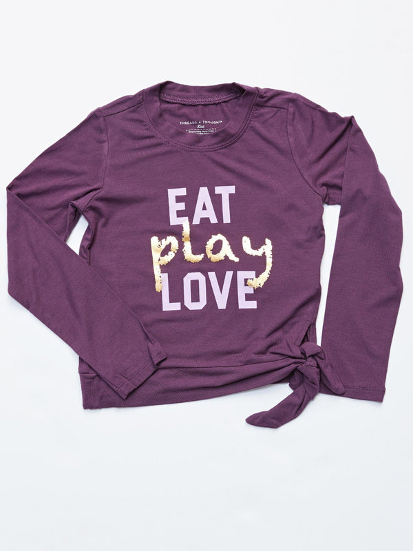 Eat Play Love Graphic Tee Girls Tops Threads 4 Thought