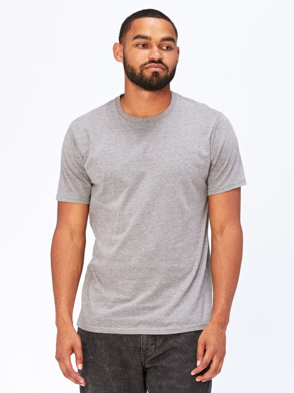 Baseline Crew Neck Mens Tops Threads 4 Thought S Heather Grey