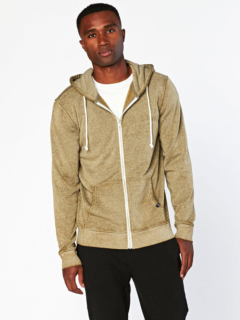 Vintage Wash Zip Fleece Hoodie
