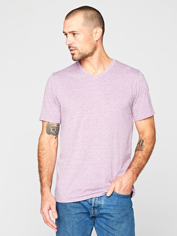 Triblend Short Sleeve V Neck Tee Mens Tops Threads 4 Thought S Lavender
