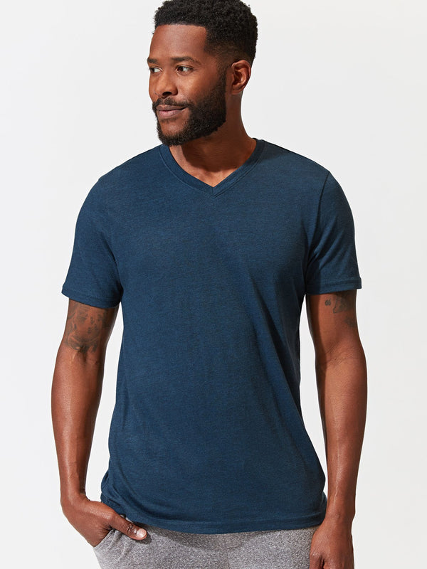 Triblend Short Sleeve V Neck Tee Mens Tops Tshirt Threads 4 Thought