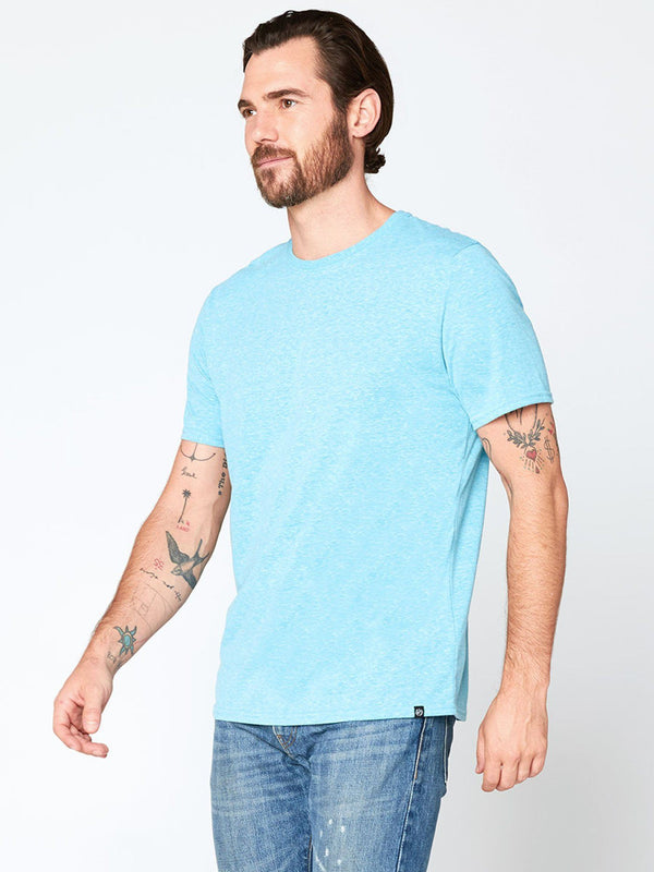 Triblend Crew Neck Tee Mens Tops Threads 4 Thought S Aqua Splash