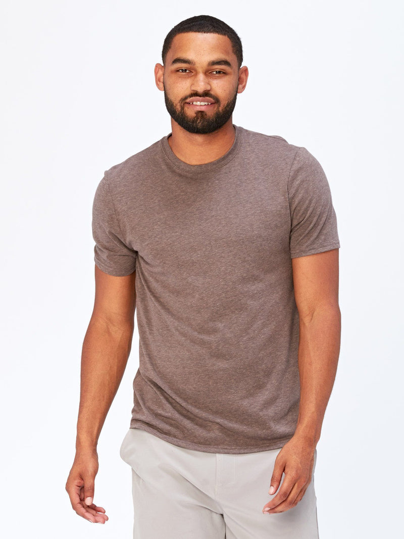 Triblend Crew Neck Tee Mens Tops Threads 4 Thought S Cobblestone