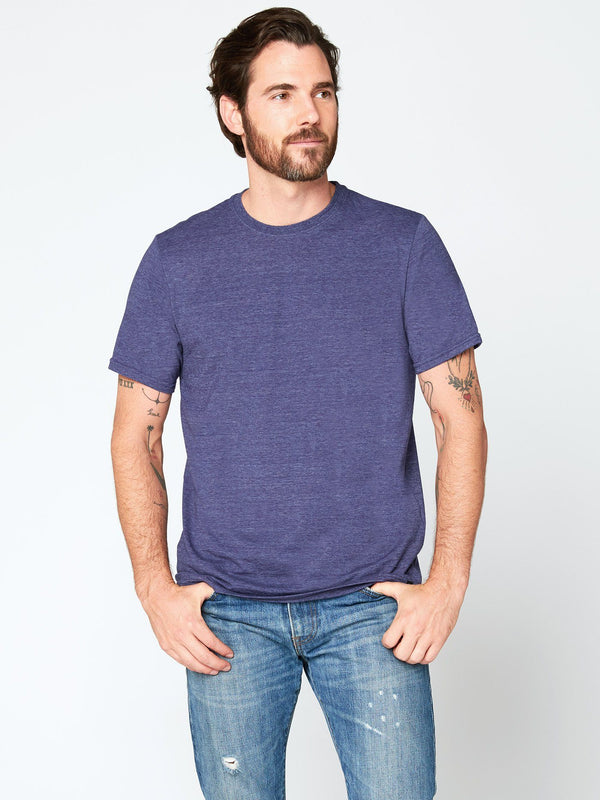 Triblend Crew Neck Tee Mens Tops Threads 4 Thought S Denim