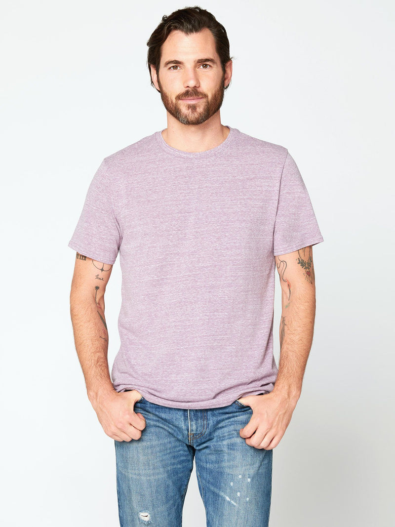 Triblend Crew Neck Tee Mens Tops Threads 4 Thought S Lavender
