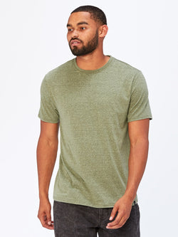 Triblend Crew Neck Tee Mens Tops Threads 4 Thought S Moss Green