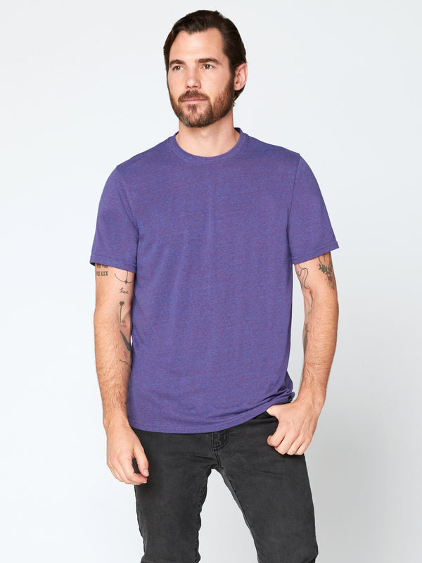 Triblend Crew Neck Tee Mens Tops Threads 4 Thought S Multi Purple