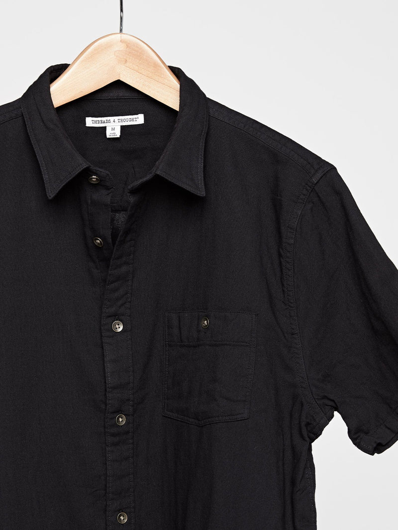 Standard Short Sleeve Gauze Shirt Mens Tops Shirt Threads 4 Thought