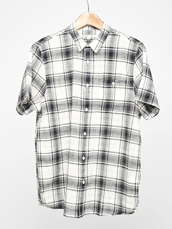 Standard Plaid Shirt Mens Tops Shirt Threads 4 Thought S Black/Cream